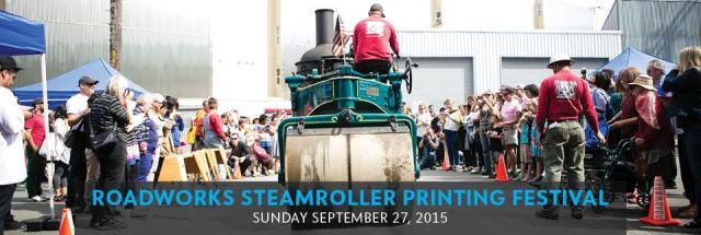 BANNER Roadworks Steamroller Printing Festival 2015